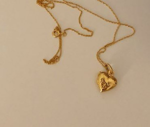 [R] Open heart necklace #GOLD