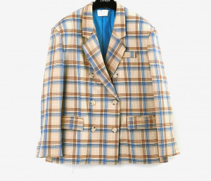 [R]  Color Check Up Jacket