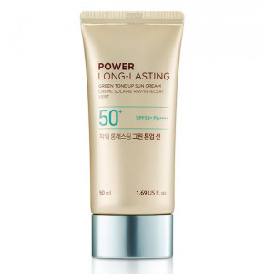 THE FACE SHOP Power Long Lasting Green Tone Up Sun SPF50+ PA++++ 50ml