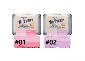 [SKINFOOD] BUTTERY Cheek Cake Twin  9.5g