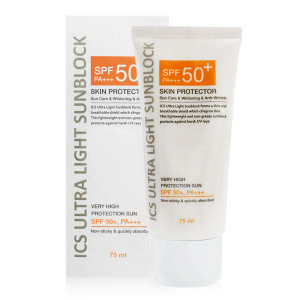 [SALE] ICS Ultra Light Sun Block  SPF50+/PA+++ 75ml