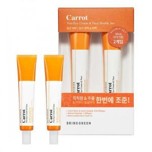 [Online Shop] BRING GREEN Carrot Vita Eye Cream & Face Double Set 30ml*2ea