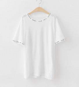 [R]  La Felson Lettering Cool Lecture T-shirt  #WHITE #J1 (66-77)