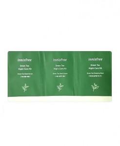 [S] INNISFREE Green Tea Night Care Kit (2ml+2ml+2ml)x10ea