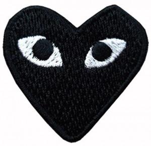 [R] B393 - Black Heart Mark Patch Wapen