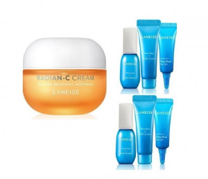 LANEIGE Radian-C Cream 30ml +(Water Bank Moisture Kit 3items*2)