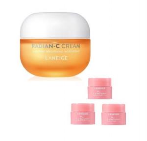 [Online Shop] LANEIGE Radian-C Cream 30ml +(lip sleeping mask3g*3)