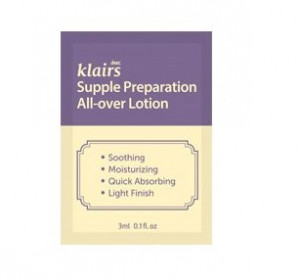 KLAIRS Supple preparation All-Over Lotion 3mlx3ea