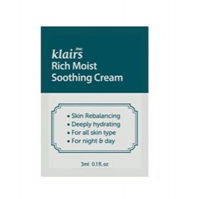 [S] KLAIRS Rich Moist Soothing Cream 3mlx3ea