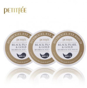 PETITFEE Black Pearl & Gold Eye Patch 60cts  *3ea