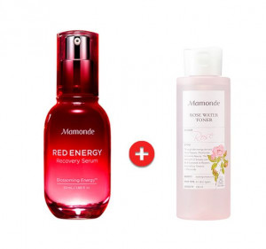 [SALE] MAMONDE Red Energy Recovery Serum 50ml + Rose Water Toner 150ml