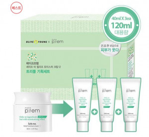 [R] MAKEPREM Safe Me Relief. Moisture Cream12_40ml *3ea special set
