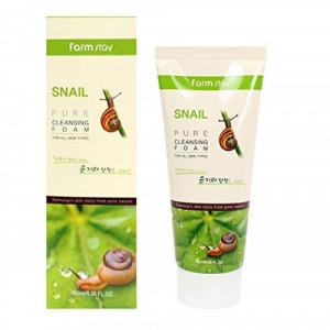 [SALE] FARMSTAY Pure Cleansing Foam Snail 180ml