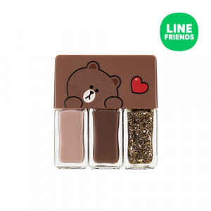 MISSHA (Line Friends) Self Nail Salon Nail Kit 4ml*3ea