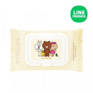 MISSHA (Line Friends) Super Aqua Perfect Cleansing Oil in Tissue 30ea