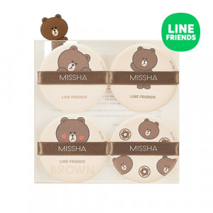 MISSHA (Line Friends) Tension Pact Puff [Fitting Type] 4ea