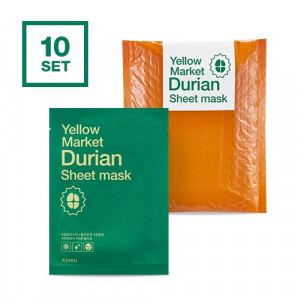 APIEU Yellow Market Durian Sheet Mask 21g*10ea