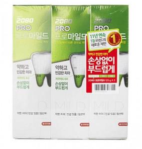 [R] 2080 Pro Mild Toothpaste 125Gx3ea