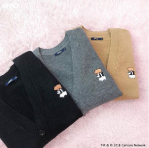 [W] SPAO We Bare Bears Over Fit Cardigan