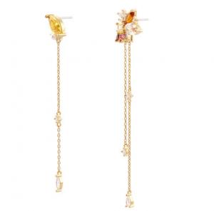 NOONOOFINGERS Maple Chain Drop Earring 1set