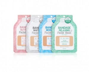 [Online Shop] ESFOLIO Bandage Facial Mask 4items