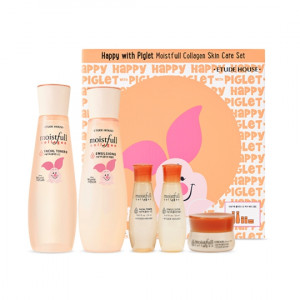 ETUDE HOUSE Happy With Piglet Moist Full Collagen Skin Care Set