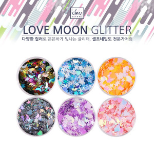 [W] Love Moon Glitter Set 6ea