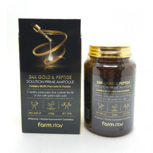 [SALE] FARMSTAY 24k Gold & Peptide Solution Prime Ampoule 250ml