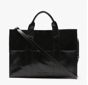 [R] Piecemaker LEATHER 3WAY POCKET BAG (BLACK)
