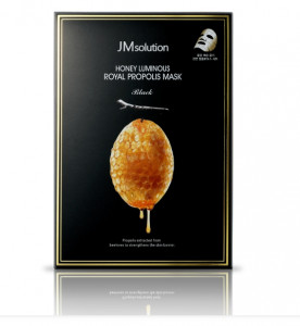 [SALE] JM SOLUTION Honey Luminous Royal Propolis Mask Black 30ml*10ea