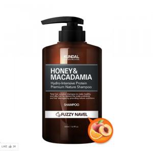 [E] KUNDAL Honey and Macadamia Fuzzy Navel Shampoo 500ml