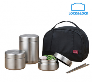 [R] AUCTION LOCK&LOCK Stainless Vacuum Lunch Box 1 set