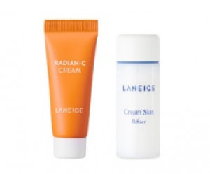 [S] LANEIGE Radian-C Cream 7ml +Cream skin 15ml