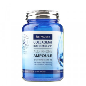 [SALE] FARMSTAY Collagen & Hyaluronic Acid All In One Ampoule 250ml