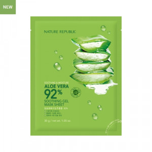 NATURE REPUBLIC Soothing & Moisture Aloe Vera 92% Soothing Gel Mask Sheet 30g