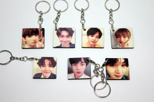 [S] Bangtan Boys - Wood Key Ring 1ea