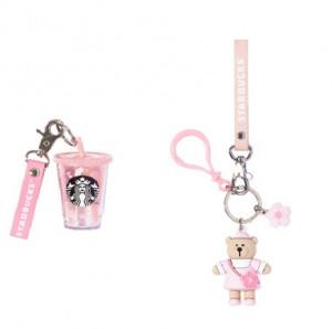 [R] STARBUCKS Key Chain 2ea (Cup + Bear)