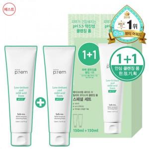 [W] MAKEPREM Safe Me Relief Moisture Cleansing Foam 150ml 1+1