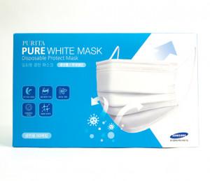PURITA Pure White Mask 50pcs [Made In Korea]
