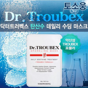 TOSOWOONG Dr.Troubex Daily Soothing Treatment Sparkling Mask 10ea