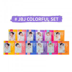 [W] MELOMELI X JBJ Color Therapy Mask Colorful Set {It is bulky. Shipping not allowed.}