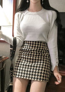 [W] SECOND EDITION Check Skirt