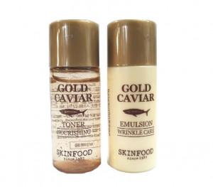 [S] SKINFOOD Gold Caviar Toner 8ml+Emulstion 8ml