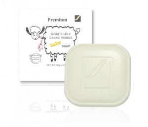 [Skintreia] Goat\'s Milk Cream Bubble Baby Soap 100g