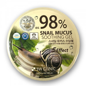 [SALE] 3W CLINIC Snail Mucus Soothing Gel 300ml