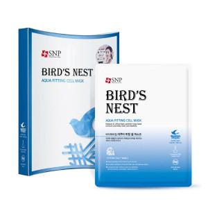 [SALE] SNP Bird\'s Nest Aqua Fitting Cell Mask 25ml*10ea