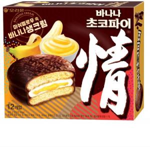 [F] ORION Choco Pie - Banana 12 packs