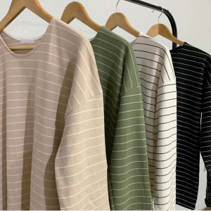 [R] NATURAL101 Stripe Long T-shirt 1ea