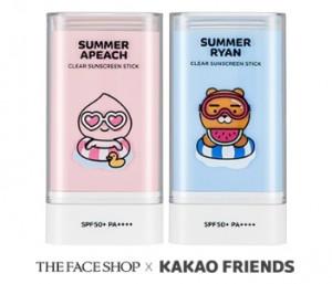 THE FACE SHOP Summer Apeach Nature Sun Eco Clear Sunscreen Stick SPF50+ PA++++ 20g