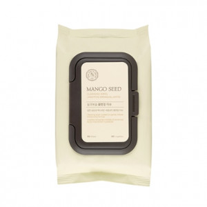 THE FACE SHOP Mango Seed Cleansing Wipes 50 Sheets